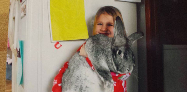 Flemish Giants have a friendly personality!